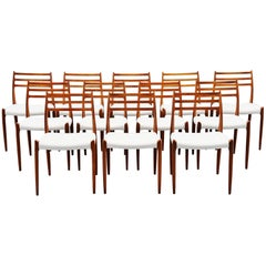 Niels Møller Model 78 Dining Chairs in Teak 12, Denmark, 1962