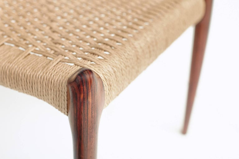Niels Møller Model 78 Rosewood Papercord Chairs For Sale 2
