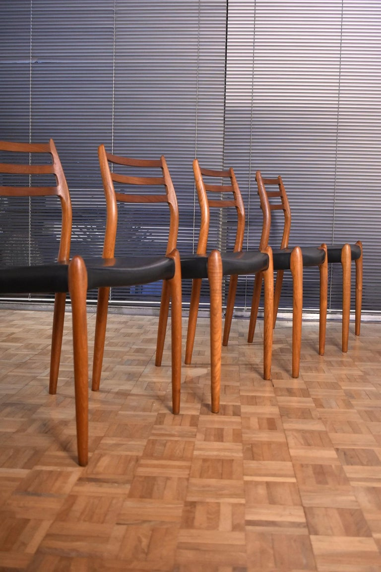 Danish Niels Moller Model 78 Teak Dining Chairs for J L Mollers Mobelfabrik For Sale