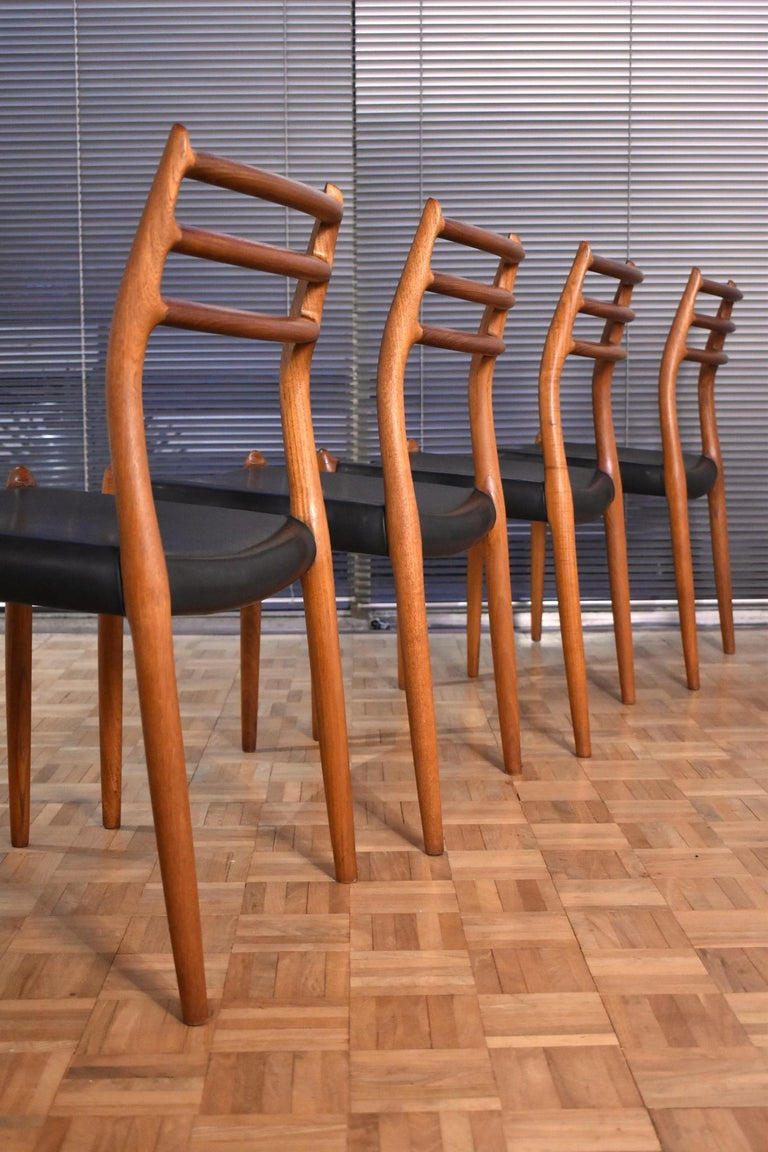 Mid-20th Century Niels Moller Model 78 Teak Dining Chairs for J L Mollers Mobelfabrik For Sale