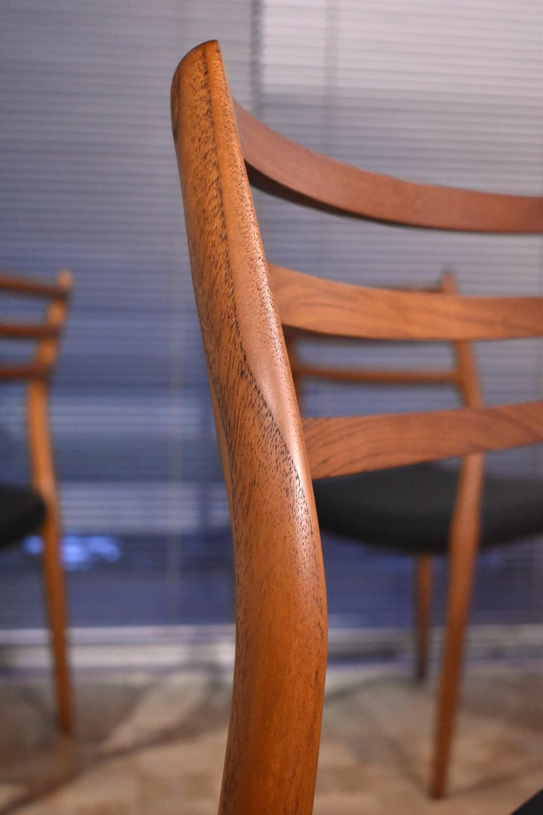 Niels Moller Model 78 Teak Dining Chairs for J L Mollers Mobelfabrik For Sale 1