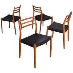 Niels Moller Model 78 Teak Dining Chairs for J L Mollers Mobelfabrik