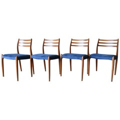 Niels Moller Model 78 Teak Dining Chairs, Set of 4, circa 1960