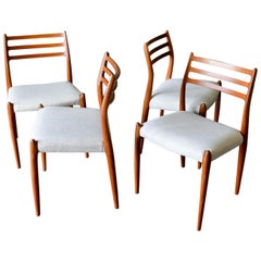 Niels Moller Model 78 Teak Dining Chairs, Set of 4, circa 1960