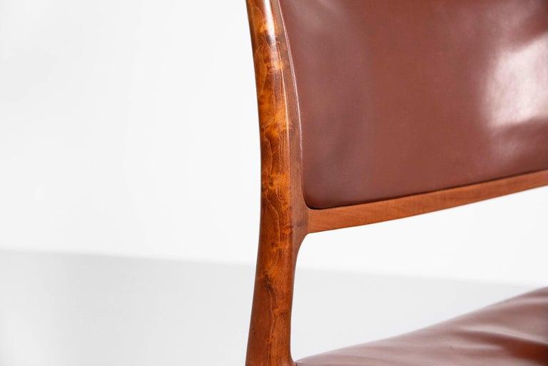 Niels Moller Model 80 teak chairs 6x Denmark 1966 For Sale 5