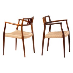 Niels Møller Model Rosewood Model 64 Chairs, 1966