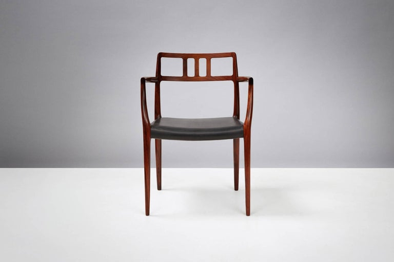 Scandinavian Modern Niels Moller Pair of Rosewood Model 64 Chairs For Sale
