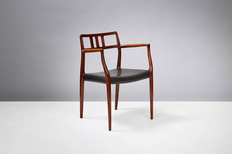 Danish Niels Moller Pair of Rosewood Model 64 Chairs For Sale