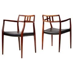 Niels Moller Pair of Rosewood Model 64 Chairs