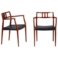 Niels Moller Pair of Rosewood Model 64 Chairs