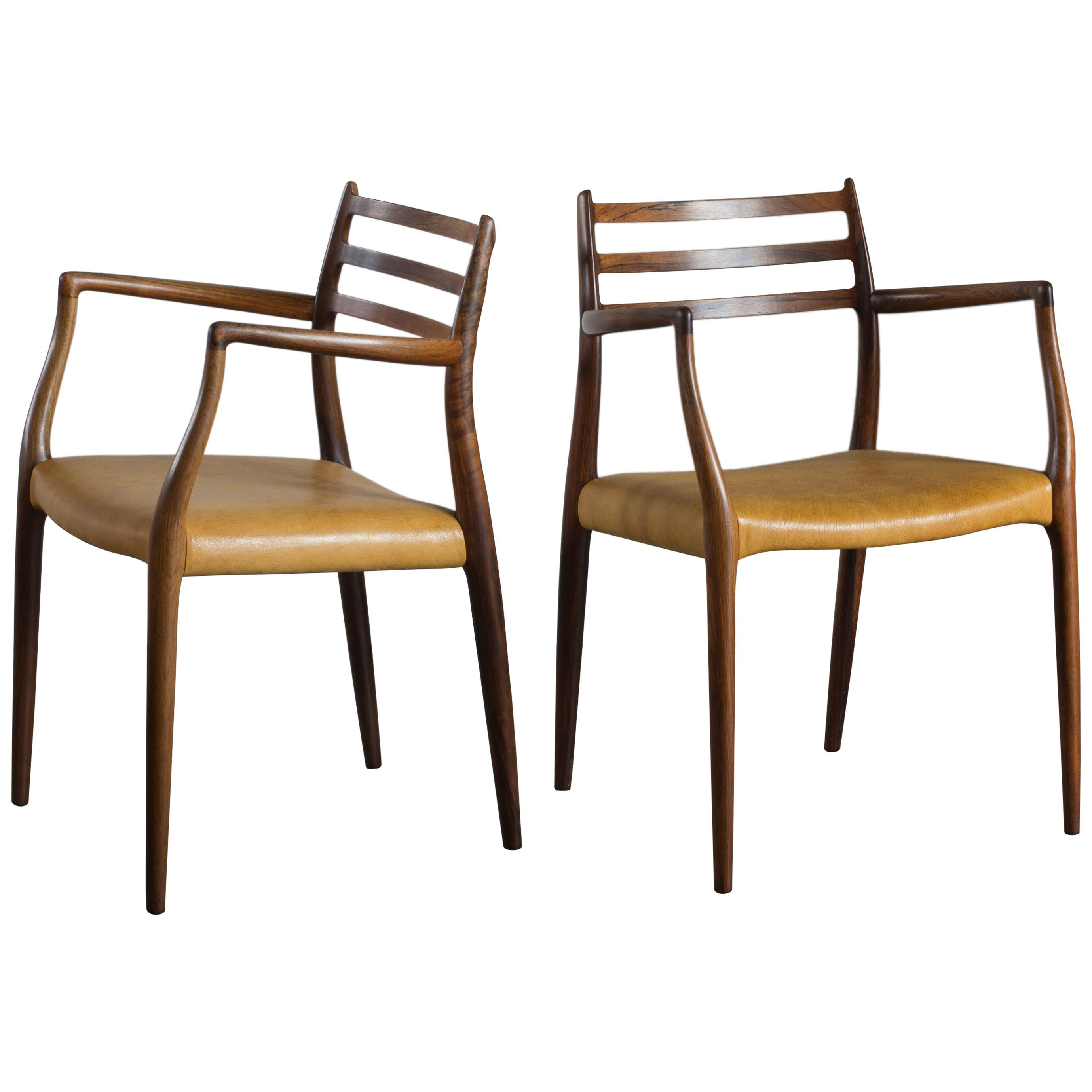Niels O. Møller a Pair of Rosewood Armchairs