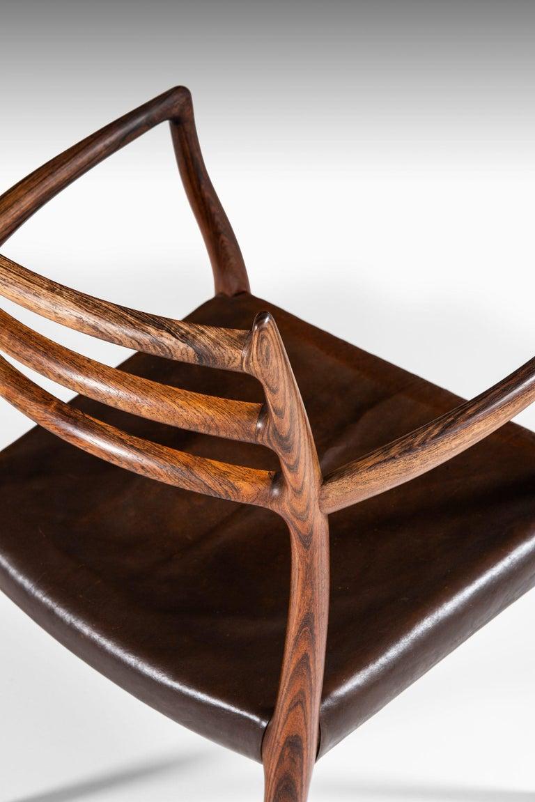 Rare armchair model 62 designed by Niels Otto Møller. Produced by J.L Møllers Møbelfabrik in Denmark.