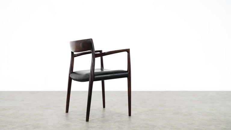 Niels O. Møller Carver Chair Model 57 by J.L Møllers Møbelfabrik, Denmark, 1959 For Sale 5