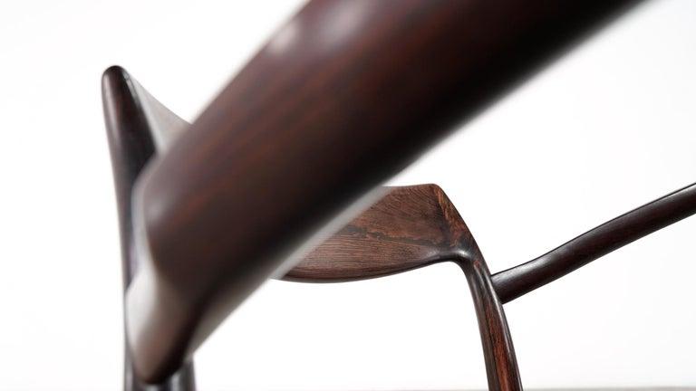 Niels O. Møller Carver Chair Model 57 by J.L Møllers Møbelfabrik, Denmark, 1959 For Sale 6