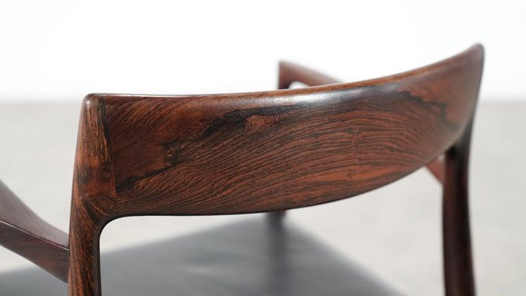 Niels O. Møller Carver Chair Model 57 by J.L Møllers Møbelfabrik, Denmark, 1959 For Sale 8