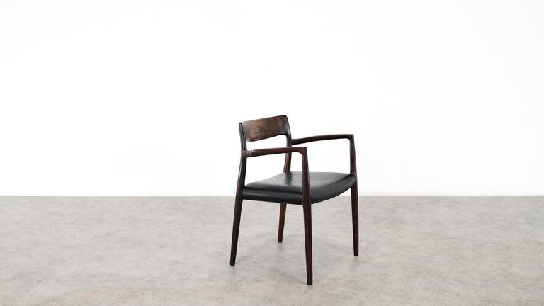 Niels O. Møller Carver Chair Model 57 by J.L Møllers Møbelfabrik, Denmark, 1959 For Sale 11