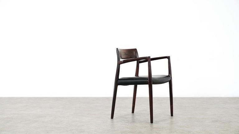 Scandinavian Modern Niels O. Møller Carver Chair Model 57 by J.L Møllers Møbelfabrik, Denmark, 1959 For Sale