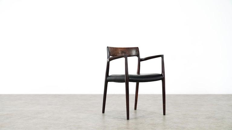 Danish Niels O. Møller Carver Chair Model 57 by J.L Møllers Møbelfabrik, Denmark, 1959 For Sale