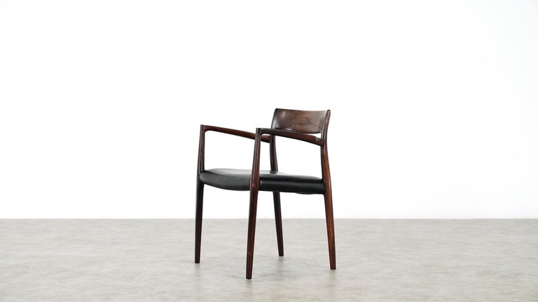 Niels O. Møller Carver Chair Model 57 by J.L Møllers Møbelfabrik, Denmark, 1959 In Good Condition For Sale In Munster, NRW