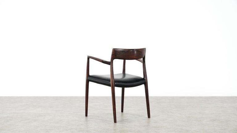 Mid-20th Century Niels O. Møller Carver Chair Model 57 by J.L Møllers Møbelfabrik, Denmark, 1959 For Sale