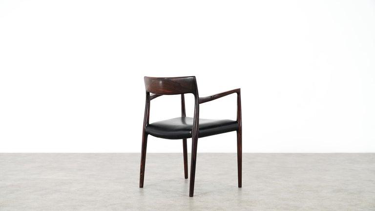 Wood Niels O. Møller Carver Chair Model 57 by J.L Møllers Møbelfabrik, Denmark, 1959 For Sale