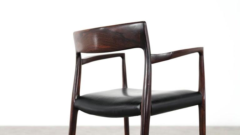 Niels O. Møller Carver Chair Model 57 by J.L Møllers Møbelfabrik, Denmark, 1959 For Sale 1