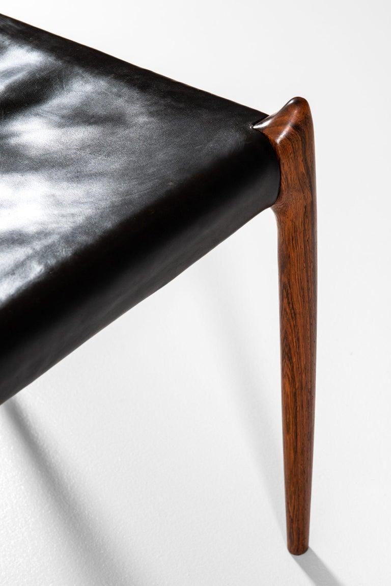 Scandinavian Modern Niels O. Møller Dining Chairs Model 78 by J.L Møllers Møbelfabrik in Denmark For Sale