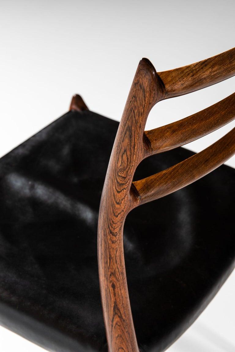 Niels O. Møller Dining Chairs Model 78 by J.L Møllers Møbelfabrik in Denmark For Sale 1