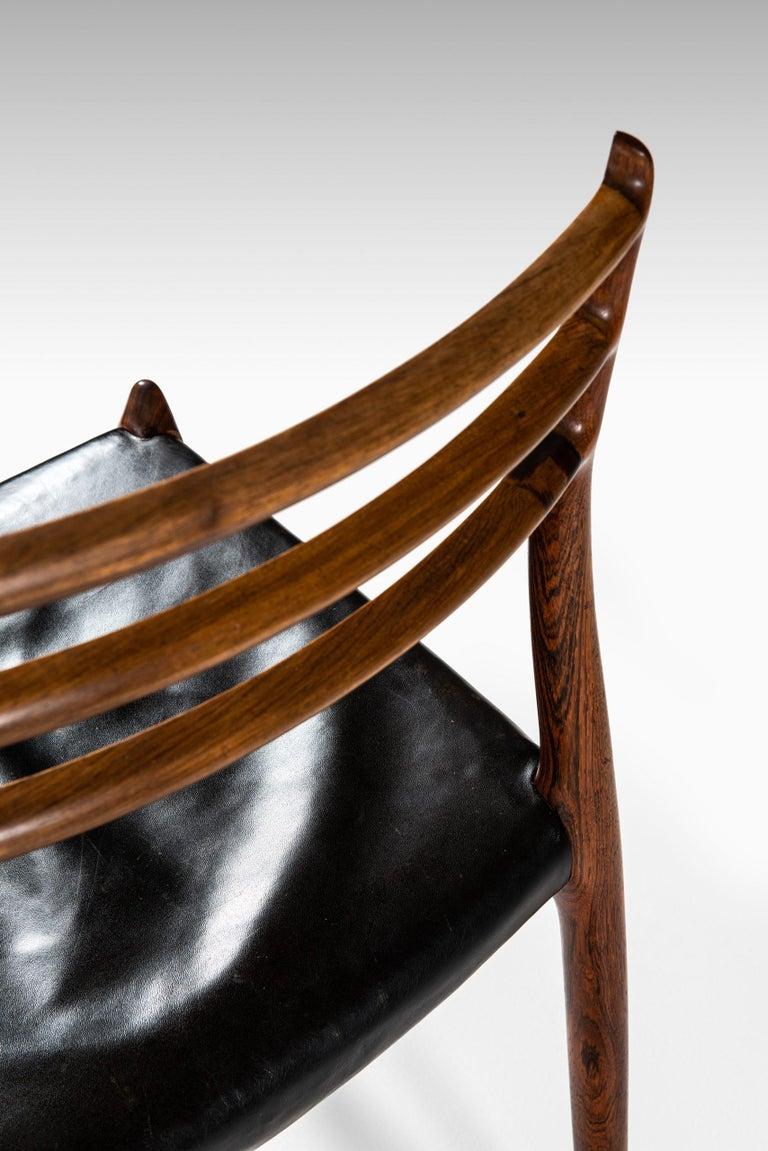 Niels O. Møller Dining Chairs Model 78 by J.L Møllers Møbelfabrik in Denmark For Sale 2
