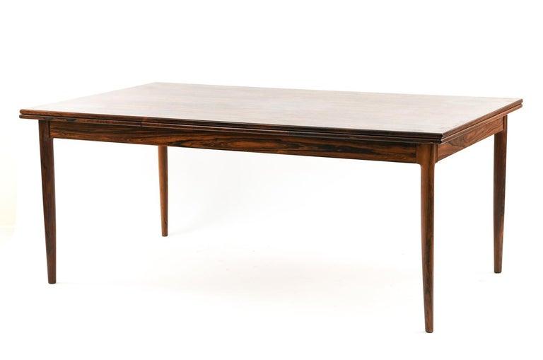 Niels O. Møller for J.L Møllers Møbelfabrik Rosewood Dining Table For Sale 1