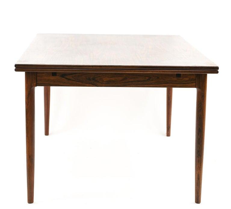 Niels O. Møller for J.L Møllers Møbelfabrik Rosewood Dining Table For Sale 2