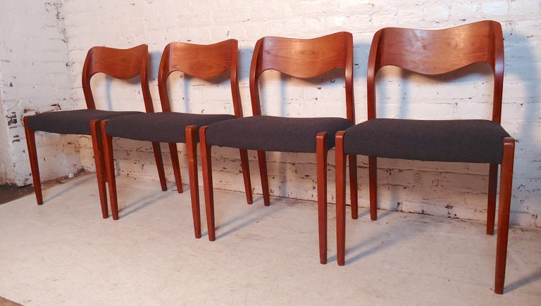 Mid-Century Modern Niels O. Møller Model #71 Dining Chairs For Sale