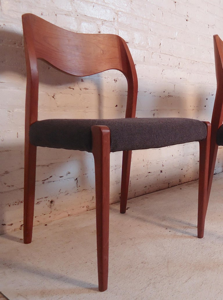 Niels O. Møller Model #71 Dining Chairs For Sale 1