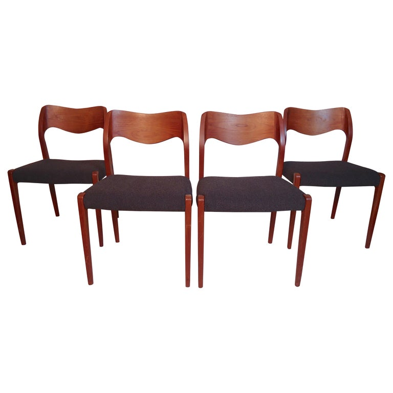 Niels O. Møller Model #71 Dining Chairs For Sale