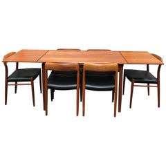 Niels O. Møller Model 75 Dining Set, Denmark, 1950s