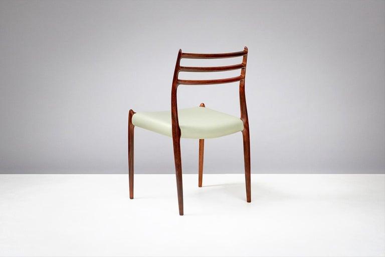 Scandinavian Modern Niels O. Møller Model 78 Dining Chairs Set of 8