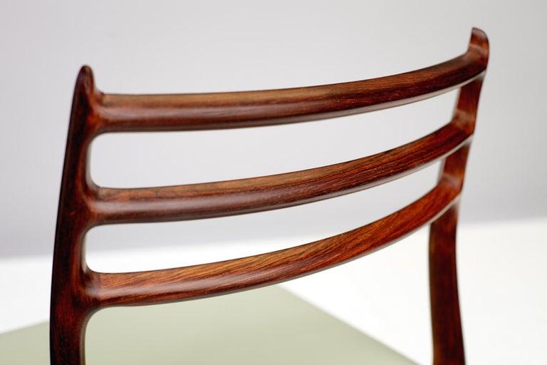 Danish Niels O. Møller Model 78 Dining Chairs Set of 8
