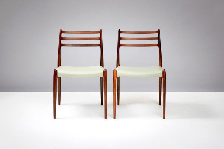 Niels O. Møller Model 78 Dining Chairs Set of 8