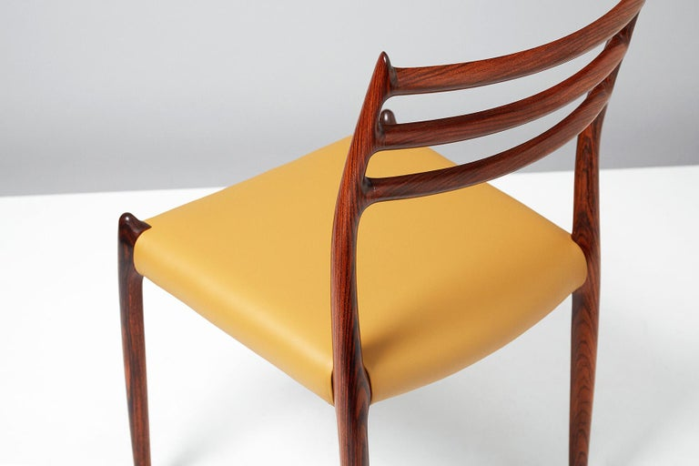 Niels O. Møller Model 78 Rosewood Dining Chairs, 1962 For Sale 3