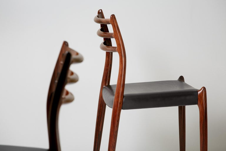 Danish Niels O. Møller Model 78 Rosewood Dining Chairs, 1962 For Sale