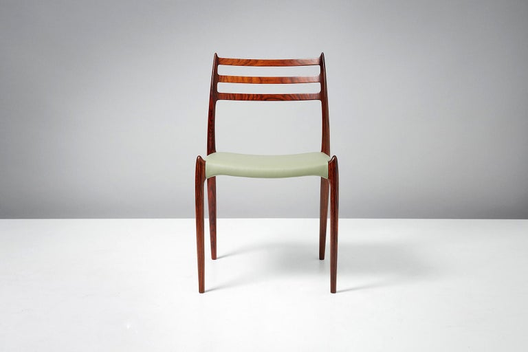 Niels O. Møller Model 78 Rosewood Dining Chairs, 1962 In Excellent Condition For Sale In London, GB