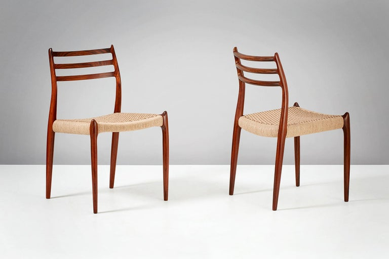 Niels O. Møller Model 78 Rosewood Dining Chairs, 1962 For ...
