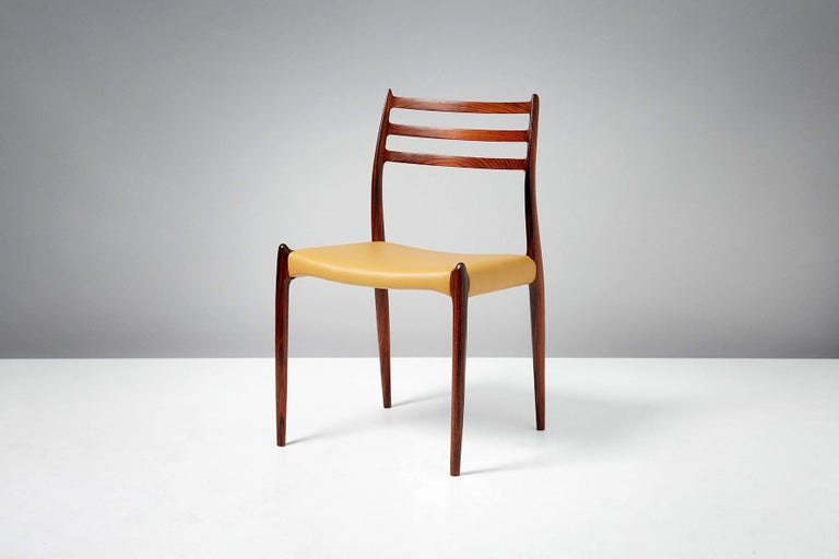 Niels O. Møller Model 78 Rosewood Dining Chairs, 1962 For Sale 1