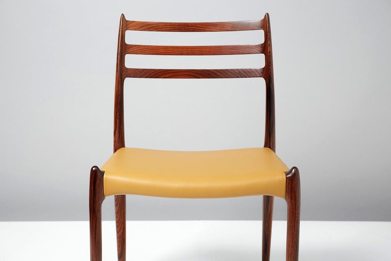 Niels O. Møller Model 78 Rosewood Dining Chairs, 1962 For Sale 2