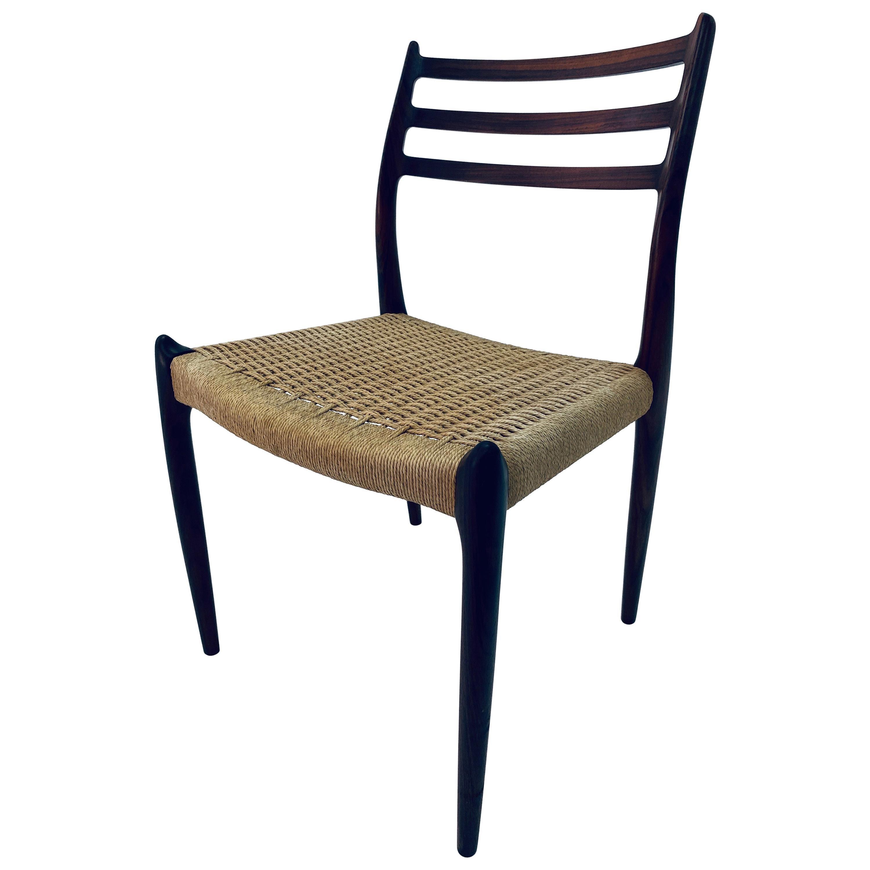 Niels O. Møller Model 78 Rosewood Dining or Desk Chair for J.L. Møller