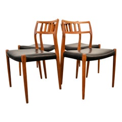 Niels O. Møller No. 79 Teak Dining Chairs, Set of Four