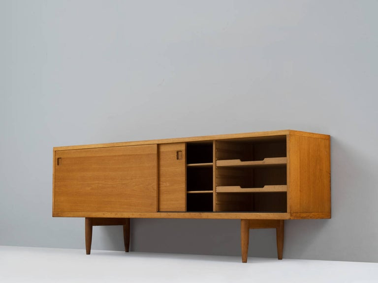 Niels O. Møller, sideboard, oak, Denmark, 1960s.