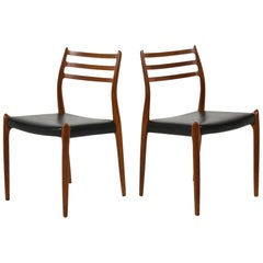 Niels O. Møller Pair of Model 78 Chairs