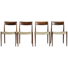 Niels O. Møller Set of Four Rosewood Chairs