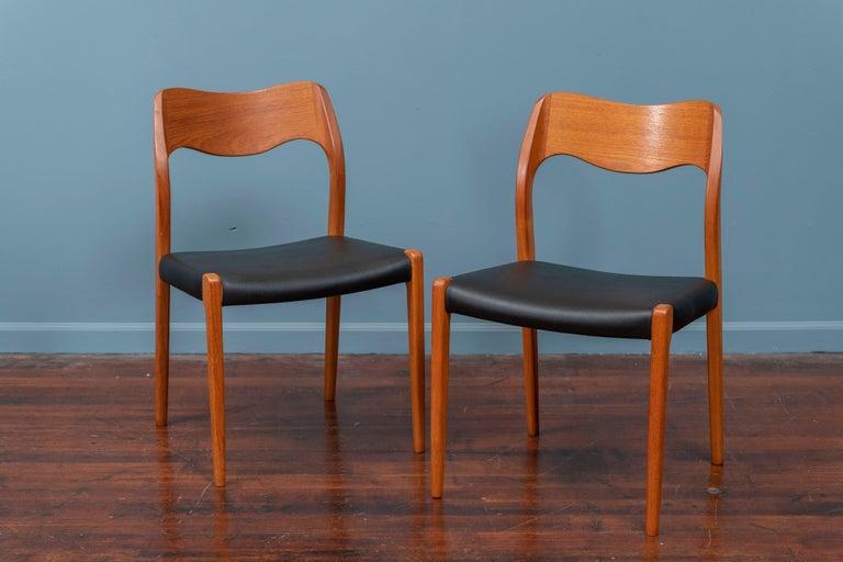 Scandinavian Modern Niels O. Moller Dining Chairs, Model 71 For Sale